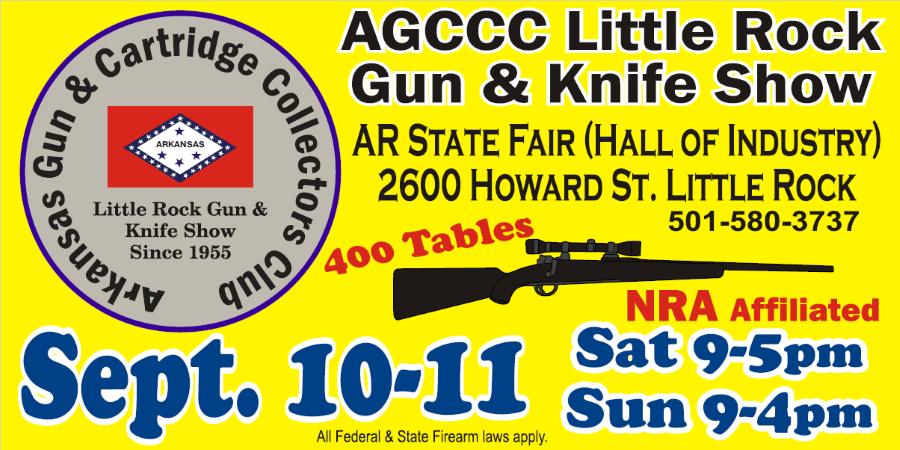 Little Rock Gun and Knife Show September 10-11 2016
